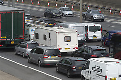 May 3, 2019 - Dartford, Kent, UK - Dartford,UK. Heavy getaway traffic on the M25 near Dartford in Kent this afternoon as people hit the roads for the May bank holiday weekend. (Credit Image: © Grant Falvey/London News Pictures via ZUMA Wire)