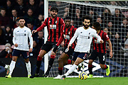 Mohamed Salah (11) of Liverpool on the attack during the Premier League match between Bournemouth and Liverpool at the Vitality Stadium, Bournemouth, England on 7 December 2019.