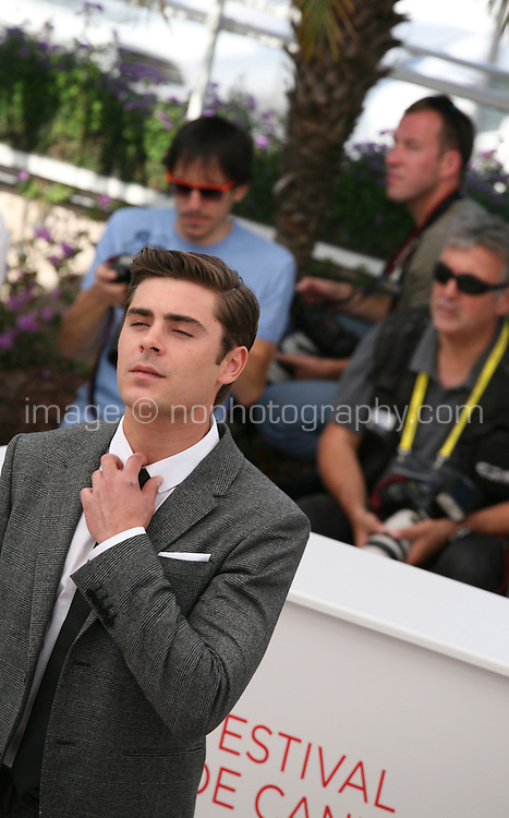 Zac Efron at The Paperboy photocall at the 65th Cannes Film Festival France. Thursday 24th May 2012 in Cannes Film Festival, France.
