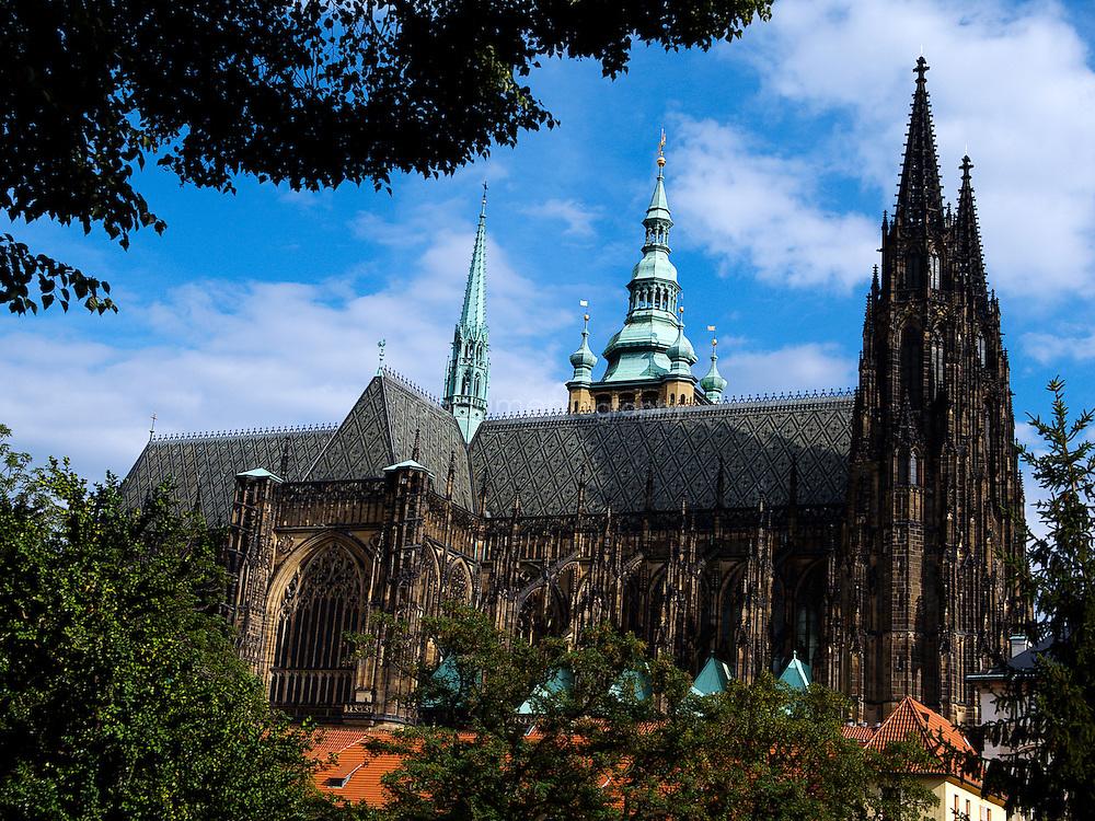 St Vitus cathedral in Prague/Praha, Czech Republic.