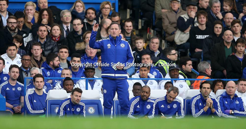 19 December 2015 Premier League Football - Chelsea v Sunderland : coach Steve Holland takes charge from the technical area.<br /> <br /> Photo: Mark Leech
