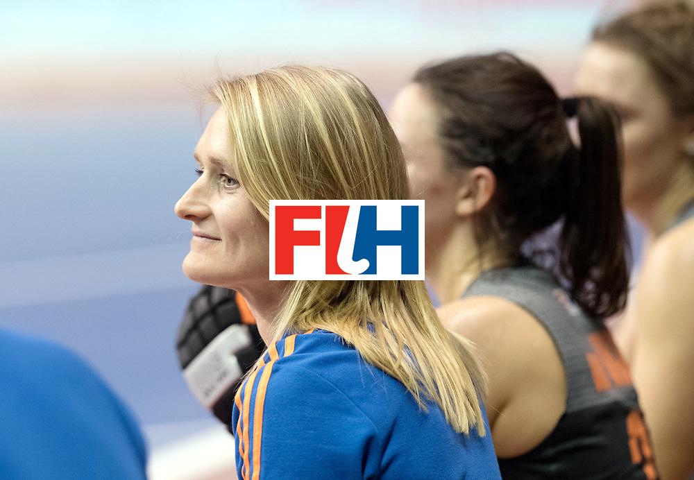 BERLIN - Indoor Hockey World Cup<br /> SF1 Netherlands - Ukraine<br /> foto: Marieke Dijkstra    <br /> WORLDSPORTPICS COPYRIGHT FRANK UIJLENBROEK