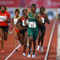 Durban, SOUTH AFRICA, 26,June, 2016 - Caster Semenya of South Africa in the Women 800m Final during Day 5 The 20th CAA African Senior Athletics Championships will take place at the Kings Park Athletics Stadium in Durban, South Africa from June 22-26, 2016. (Photo by Steve Haag)