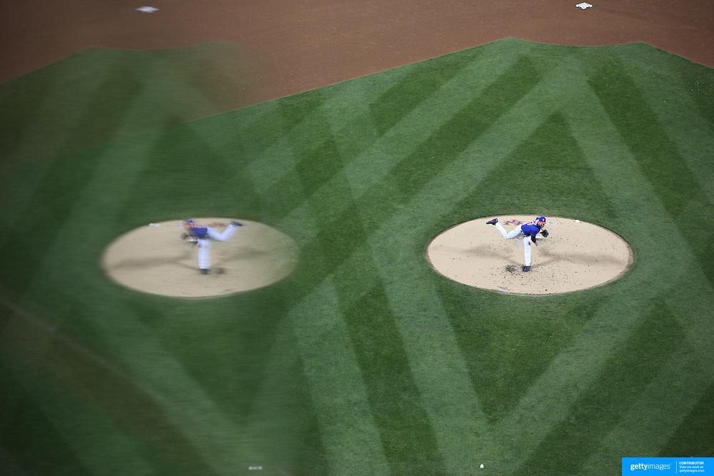 Pitcher Matt Harvey, New York Mets, pitching during the New York Mets Vs Washington Nationals MLB regular season baseball game at Citi Field, Queens, New York. USA. 1st May 2015. Photo Tim Clayton