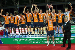 01-07-2012 VOLLEYBAL: EUROPEAN LEAGUE PRIJSUITREIKING: ANKARA<br /> Nederland wint de European League 2012 <br /> ©2012-FotoHoogendoorn.nl/Conny Kurth