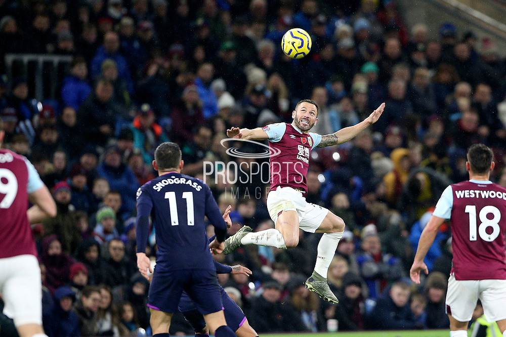 Burnley defender Phillip Bardsley (26) during the Premier League match between Burnley and West Ham United at Turf Moor, Burnley, England on 9 November 2019.
