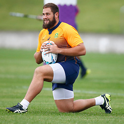 TOKYO, JAPAN - OCTOBER 15: Thomas du Toit during the South African national rugby team training session at Fuchu Asahi Football Park on October 15, 2019 in Tokyo, Japan. (Photo by Steve Haag/Gallo Images)