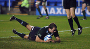 2005/06, European Challenge Cup, Exiles Rodd Penney slides in the score a second half try. London Irish vs Agen,  Madejski Stadium, Reading, ENGLAND   © Peter Spurrier/Intersport Images - email images@intersport-images..   [Mandatory Credit, Peter Spurier/ Intersport Images].