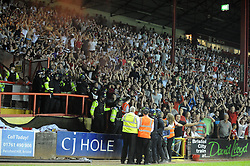 Bristol City fans - Photo mandatory by-line: Dougie Allward/JMP - Tel: Mobile: 07966 386802 04/09/2013 - SPORT - FOOTBALL -  Ashton Gate - Bristol - Bristol City V Bristol Rovers - Johnstone Paint Trophy - First Round - Bristol Derby