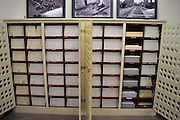 A view of the ~4,000 glass plate negatives in the United Railroads / Market Street Railway &quot;U Series.&quot; <br />