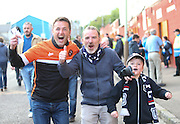 Fans of Dundee and Dundee United head to Tannadice together - Dundee United v Dundee at Tannadice<br /> - Ladbrokes Premiership<br /> <br />  - © David Young - www.davidyoungphoto.co.uk - email: davidyoungphoto@gmail.com