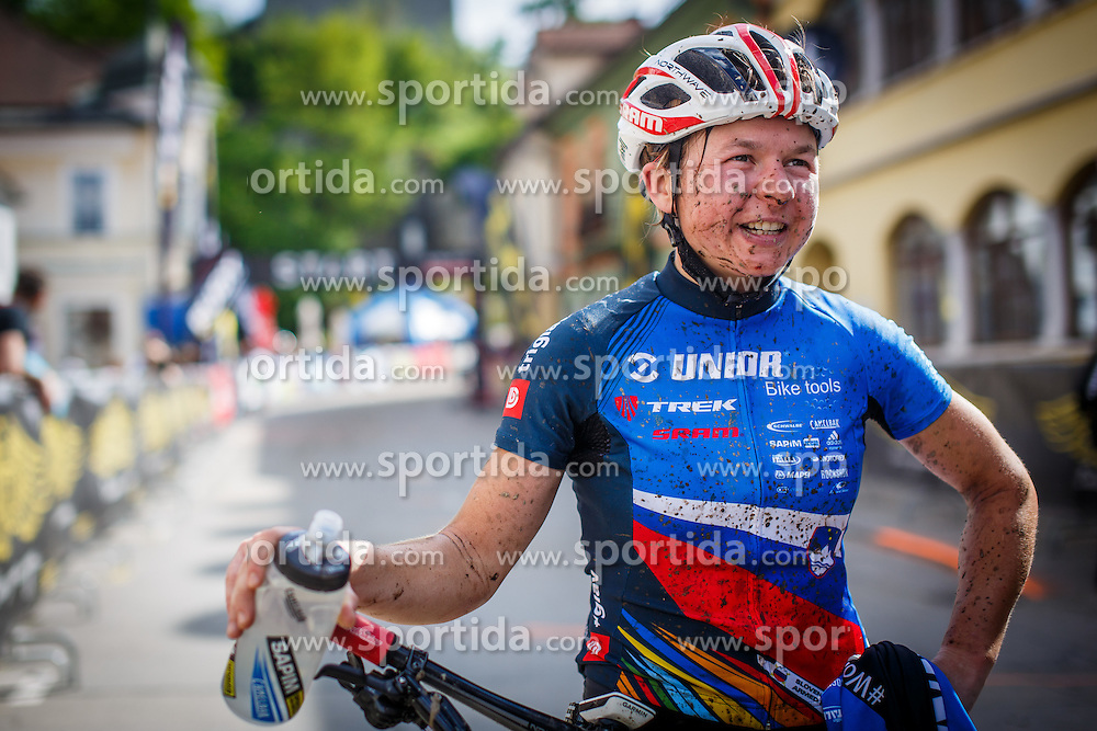 Tanja Zakelj of Slovenia (unior tools team) during Cross Country XC Mountain bike race for Slovenian National Championship in Kamnik, on April 30, 2016 in Kamnik, Slovenia. Photo by Grega Valancic / Sportida