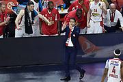 DESCRIZIONE : Madrid Eurolega Euroleague 2014-15 Final Four Semifinal Semifinale Cska Moscow Olympiacos Piraeus Athens Cska Mosca Olympiacos Atene <br /> GIOCATORE : Giannis Sfairopoulos<br /> SQUADRA : Olympiacos Atene<br /> CATEGORIA : ritratto esultanza allenatore coach schema<br /> EVENTO : Eurolega 2014-2015<br /> GARA : Cska Mosca Olympiacos Atene<br /> DATA : 15/05/2015<br /> SPORT : Pallacanestro<br /> AUTORE : Agenzia Ciamillo-Castoria/GiulioCiamillo<br /> Galleria : Eurolega 2014-2015<br /> DESCRIZIONE : Madrid Eurolega Euroleague 2014-15 Final Four Semifinal Semifinale Cska Moscow Olympiacos Piraeus Athens Cska Mosca Olympiacos