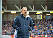Sheffield Wednesday head coach Carlos Carvalhal during the Sky Bet Championship match between Bristol City and Sheffield Wednesday at Ashton Gate, Bristol, England on 9 April 2016. Photo by Adam Rivers.