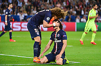 Edinson CAVANI / David LUIZ - 15.04.2015 - Paris Saint Germain / Barcelone - 1/4Finale Aller Champions League<br />
