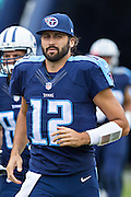 NASHVILLE, TN - OCTOBER 25:  Charlie Whitehurst #12 of the Tennessee Titans jogs onto the field before a game against the Atlanta Falcons at Nissan Stadium on October 25, 2015 in Nashville, Tennessee.  The Falcons defeated the Titans 10-7.  (Photo by Wesley Hitt/Getty Images) *** Local Caption *** Charlie Whitehurst