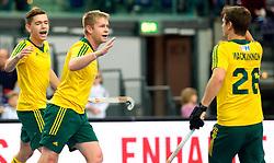 LEIZPIG - WC HOCKEY INDOOR 2015<br /> GER v AUS (Pool A)<br /> Foto: Australia scored<br /> FFU PRESS AGENCY COPYRIGHT FRANK UIJLENBROEK