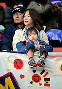 A mother with her young son - Japan fans