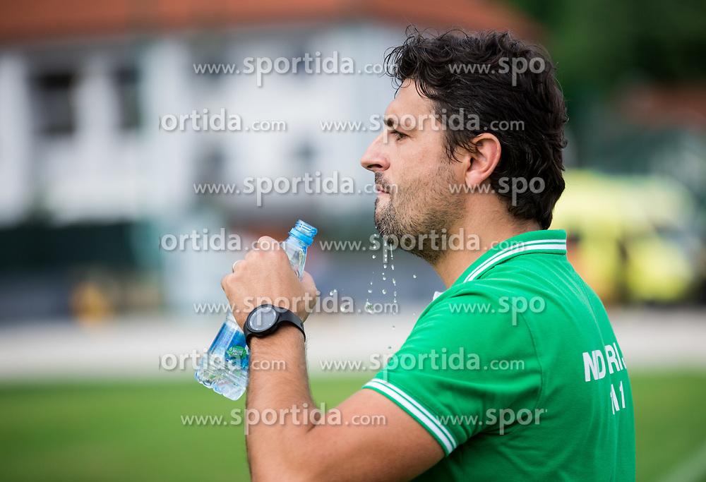 Stanko Bozicevic, coach of ND Ilirija during football match between ND Ilirija 1911 and NK Krsko in 1st Round of Slovenian Football Cup 2017/18, on August 16, 2017 in Stadium Ilirija, Ljubljana, Slovenia. Photo by Vid Ponikvar / Sportida