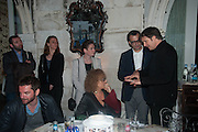 ANRI SALA; CAROLYN CHRISTOV-BAKARGIEV;  VADIM GRIGORIAN; Marcos Lut;  Marcos Lutyens  , Absolut Art Bureau cocktails and dinner to celebrate the announcement of the 2013 Absolut Art Award shortlist. Bauer Hotel, San Marco. Venice. Venice Bienalle. 28 May 2013