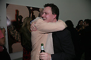JAMES WINDSOR AND TIM STONER, private view  of new exhibition by Tim Stoner , Alison Jacques Gallery in new premises in Berners St., London, W1 ,Afterwards across the rd. at the Sanderson Hotel. 3 May 2007. DO NOT ARCHIVE-© Copyright Photograph by Dafydd Jones. 248 Clapham Rd. London SW9 0PZ. Tel 0207 820 0771. www.dafjones.com.