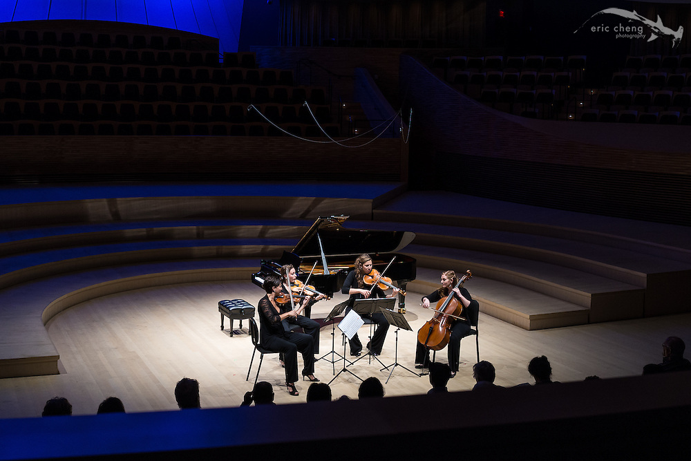 Excelsa String Quartet plays at the SLSQ Chamber Music Seminar 2014 International Showcase at Bing Concert Hall, Stanford University. #slsq2014