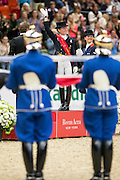 Helen Langehanenberg - Damon Hill NRW winner Reem Acra FEI World Cup Final<br /> Reem Acra FEI World Cup Final 2013<br /> © DigiShots