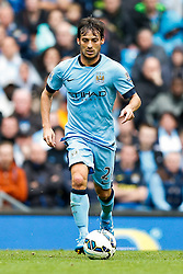 David Silva of Manchester City in action - Photo mandatory by-line: Rogan Thomson/JMP - 07966 386802 - 30/08/2014 - SPORT - FOOTBALL - Manchester, England - Etihad Stadium - Manchester City v Stoke City - Barclays Premier League.