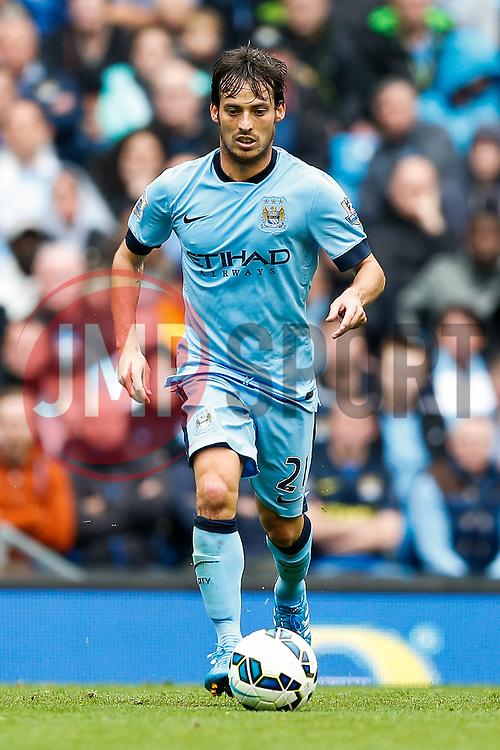 David Silva of Manchester City in action - Photo mandatory by-line: Rogan Thomson/JMP - 07966 386802 - 30/08/2014 - SPORT - FOOTBALL - Manchester, England - Etihad Stadium - Manchester City v Stoke City - Barclays Premier League.