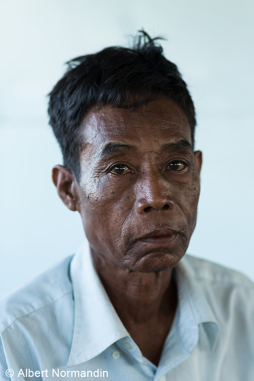 Portrait of crew member on boat, Yangon River