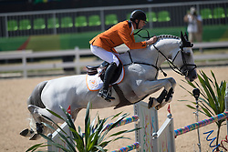 Vrieling Jur, NED, VDL Zirocco Blue<br /> owner of the horse of Jerome with arms in the air<br /> Olympic Games Rio 2016<br /> © Hippo Foto - Dirk Caremans<br /> 14/08/16