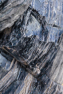 Obsidian, Volcanic Rock formations at Panum Crater, Mono Craters, Mono County, Eastern Sierra, California