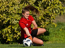 ALHAURÍN EL GRANDE, SPAIN - Monday, March 4, 2019: Wales' goalkeeper Claire Skinner during a training session at the at Alhaurin Golf Resort in Spain. (Pic by David Rawcliffe/Propaganda)