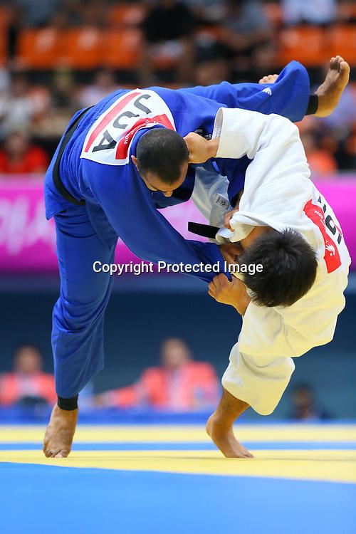 Yuya Yoshida (JPN), <br /> SEPTEMBER 22, 2014 - Judo : <br /> Men's -90kg Preliminary <br /> at Dowon Gymnasium <br /> during the 2014 Incheon Asian Games in Incheon, South Korea. <br /> (Photo by Yohei Osada/AFLO SPORT)