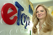 Janine Bousquette, executive vice president E-Toys, poses for a portrait in the E-Toys office in Santa Monica, Calif.
