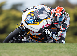 October 20, 2017 - Melbourne, Victoria, Australia - Finnish rider Patrik Pulkkinen (#4) of Peugeot MC Saxoprint in action during the second free practice session at the 2017 Australian MotoGP at Phillip Island, Australia. (Credit Image: © Theo Karanikos via ZUMA Wire)