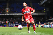 Middlesbrough Forward Martin Braithwaite (10) during the EFL Sky Bet Championship match between Ipswich Town and Middlesbrough at Portman Road, Ipswich, England on 2 October 2018.