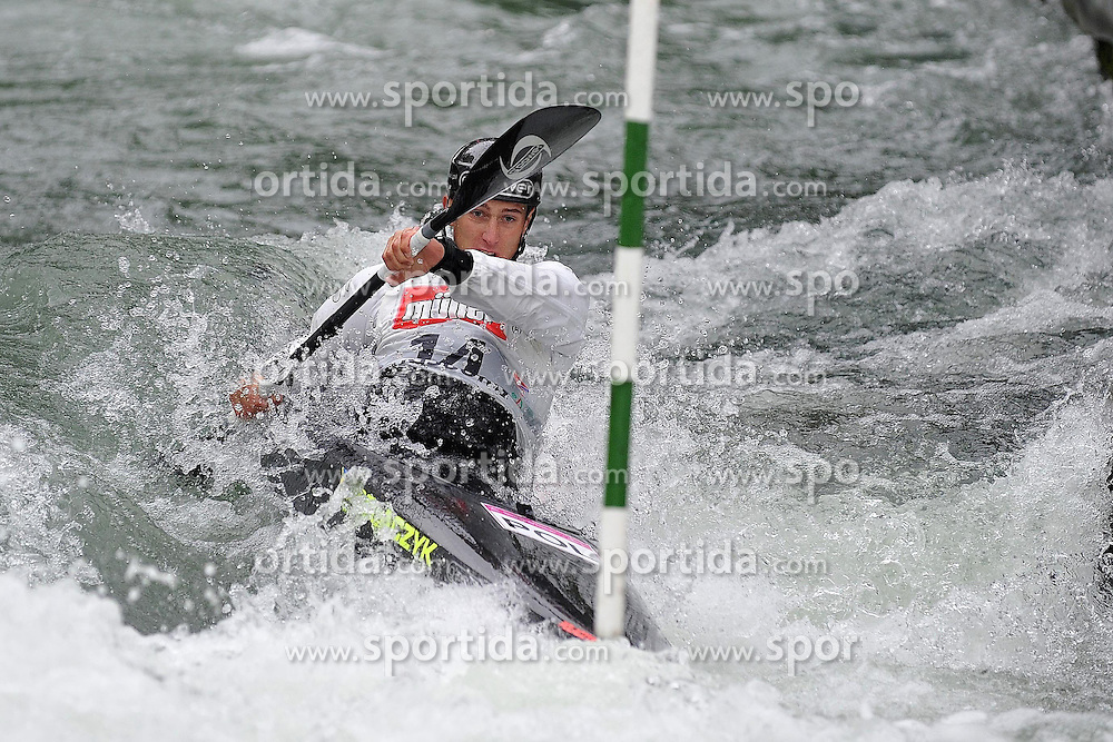 13.05.2012, Eiskanal, Augsburg, GER, ECA, Kanuslalom Europameisterschaft, im Bild Mateusz Polaczyk (POL) // during the ECA European Canoe Championships at the Ice channel, Augsburg, Germany on 2012/05/13. EXPA Pictures © 2012, PhotoCredit: EXPA/ Eibner/ ATTENTION - OUT OF GER *****