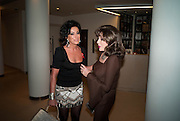 NANCY DELL D'OLIO; JOAN COLLINS, The Lighthouse Gala auction in aid of the Terrence Higgins Trust. Christies. London. 19 March 2012.