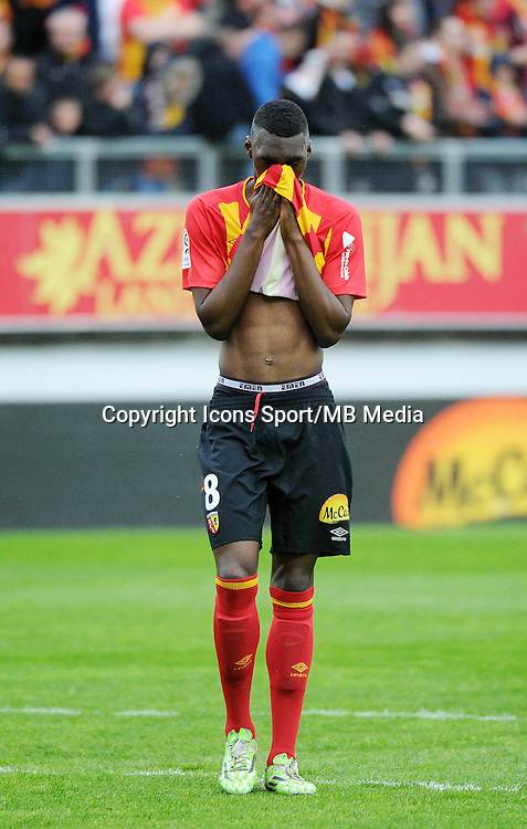 Deception Aristote MADIANI - 26.04.2015 - Lens / Monaco - 34eme journee de Ligue 1<br />Photo : Nolwenn Le Gouic / Icon Sport