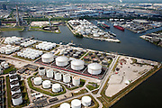 Nederland, Amsterdam, Zaandam, 25-05-2010. Jan van Riebeeckhaven met Eurotank en Vopak, Hemhavens..luchtfoto (toeslag), aerial photo (additional fee required).foto/photo Siebe Swart