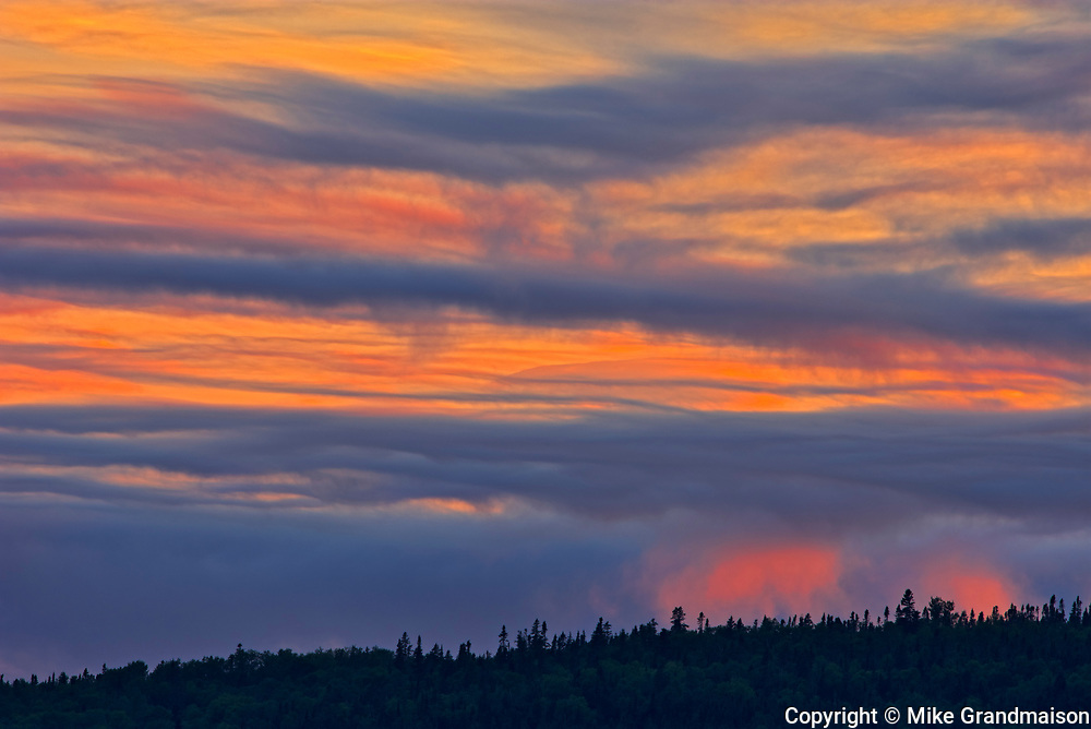 Clouds at sunset over Lake Superior<br />
