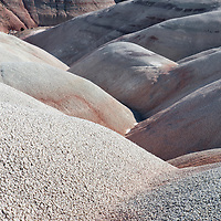 The red, gray and white hills of the Bentonite Clays region of Capitol Reef National Park, near Torrey, Utah.