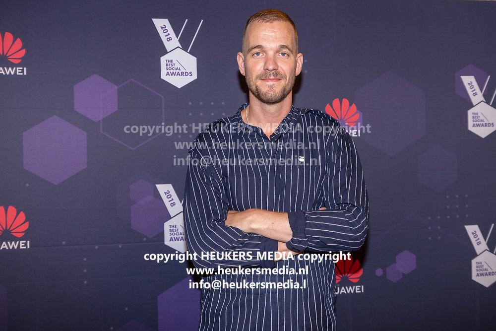 B. Amsterdam. Best Social Awards 2018. Op de foto: Diederik Broekhuizen