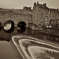 The river Avon at Bath, England