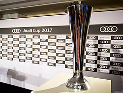MUNICH, GERMANY - Monday, July 31, 2017: The Audi Cup trophy on display before a press conference ahead of the Audi Cup 2017 at the Westin Grand Hotel München. (Pic by David Rawcliffe/Propaganda)