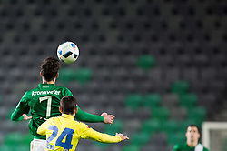 Rok Kronaveter #7 of NK Olimpija Ljubljana vs Milan Spremo #24 of NK Celje during football match between NK Olimpija Ljubljana and NK Celje in Round #25 of Prva liga Telekom Slovenije 2015/16, on March 13, 2016 in SRC Stozice, Ljubljana, Slovenia. Photo by Vid Ponikvar / Sportida