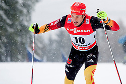 Hannes Dotzler of Germany during man 9 km pursue race at the cross country Tour de Ski 2014 of the FIS cross country World cup competition on January 5th, 2014 in Alpe Cermis, Val di Fiemme, Italy. (Photo by Urban Urbanc / Sportida)