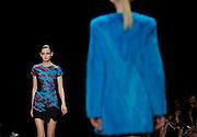 The J. Mendel Spring 2015 collection is modeled during Fashion Week in New York, Thursday, Sept. 11, 2014.  (AP Photo/Diane Bondareff)