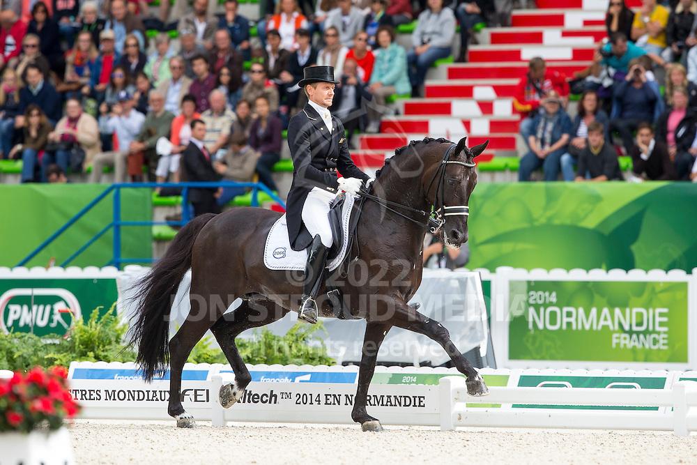 Edward Gal, (NED), Glock's Voice - Grand Prix Special Dressage - Alltech FEI World Equestrian Games&trade; 2014 - Normandy, France.<br /> &copy; Hippo Foto Team - Leanjo de Koster<br /> 25/06/14